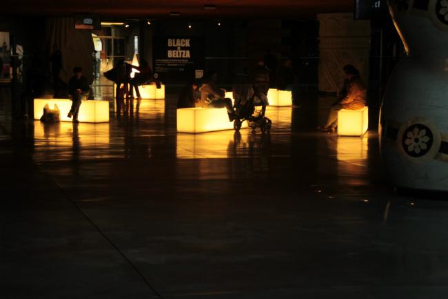 Iluminación en La Alhóndiga de Bilbao
