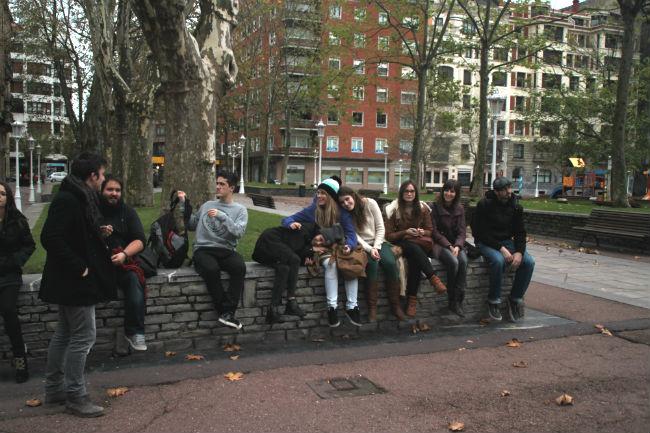 Grupo de estudiantes de Creanvarra en el Museo de Bellas Artes de Bilbao