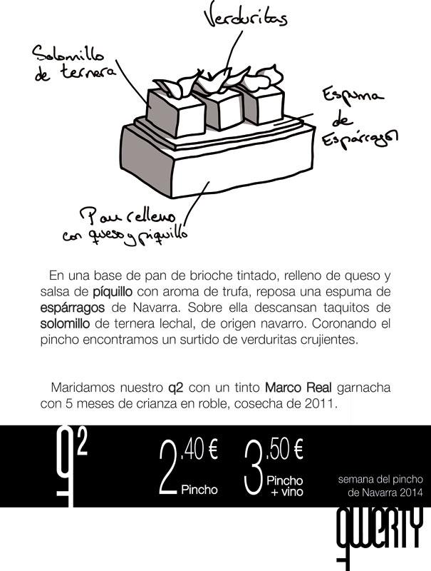 Diseño de Daniel Oteiza para el bar Qwerty