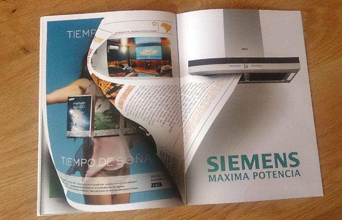 Diseño de Iñigo Lanz para un anuncio de Siemens