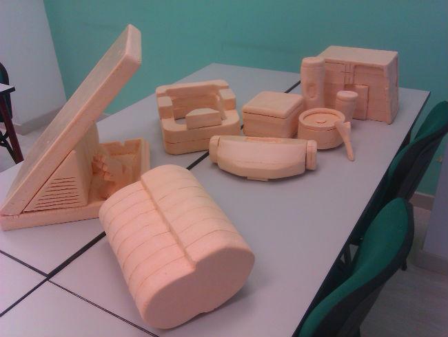 Maquetas de los alumnos de Diseño de Producto