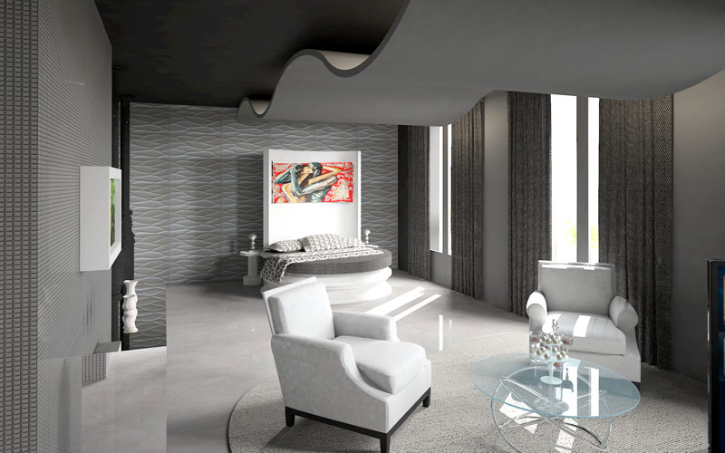 Render elaborado por Uxue Merced para el proyecto de Marisa Gutiérrez en Casa Decor 2014