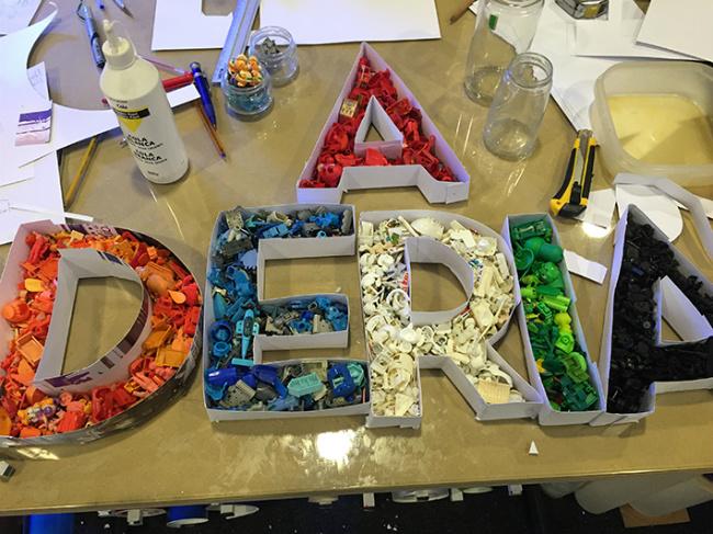 letras en molde