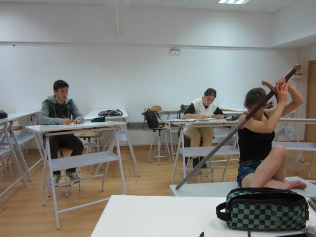 Aula de Creanavarra durante la clase de Concept Art