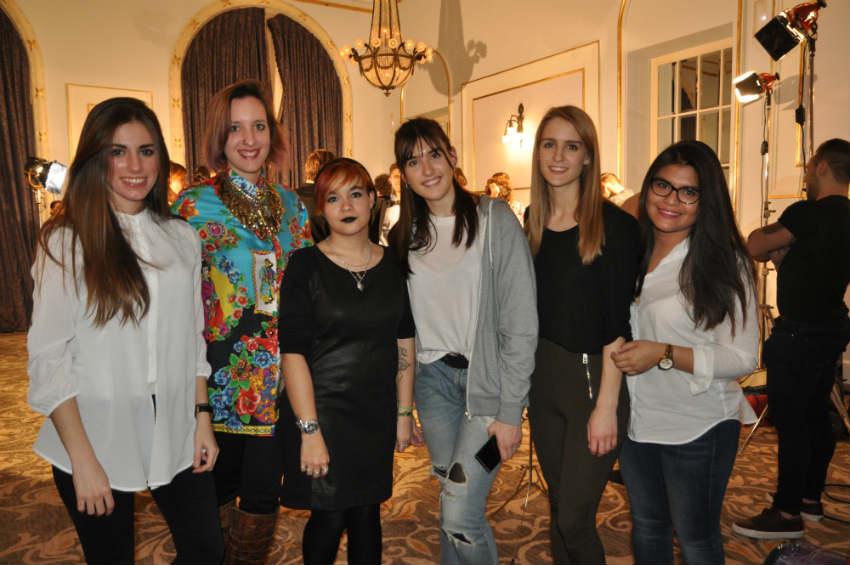 Alumnas de Creanavarra durante su participación en el equipo de vestuario del Fashion Film Katarsis