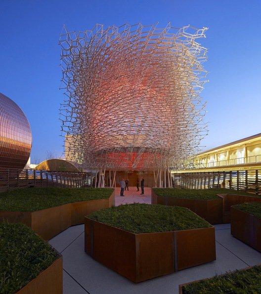 Pabellón de Reino Unido diseñado por Wolfgang Buttress