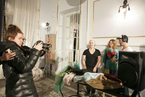 Durante el rodaje del fashion film