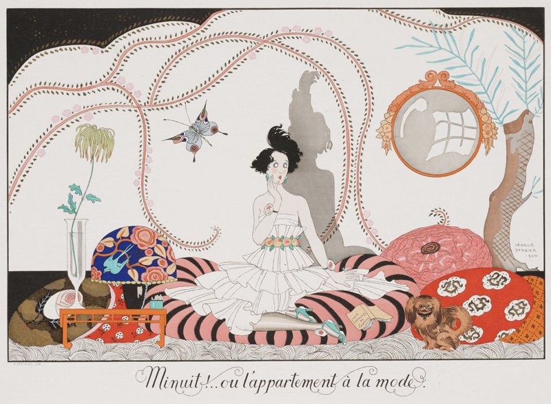 Las colecciones de Paul Poiret fueron ilustradas por Barbier
