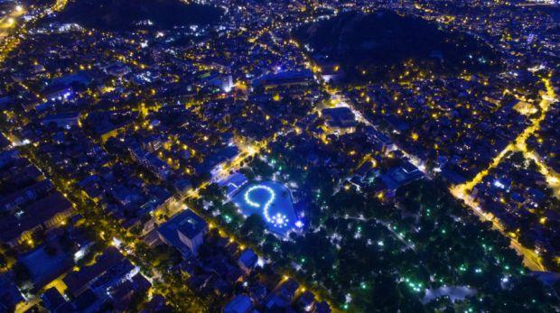 Plovidv by night, Bulgaria de Ice Fire
