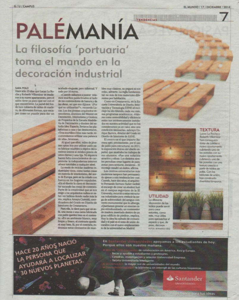 Palemania Creanavarra en El Mundo